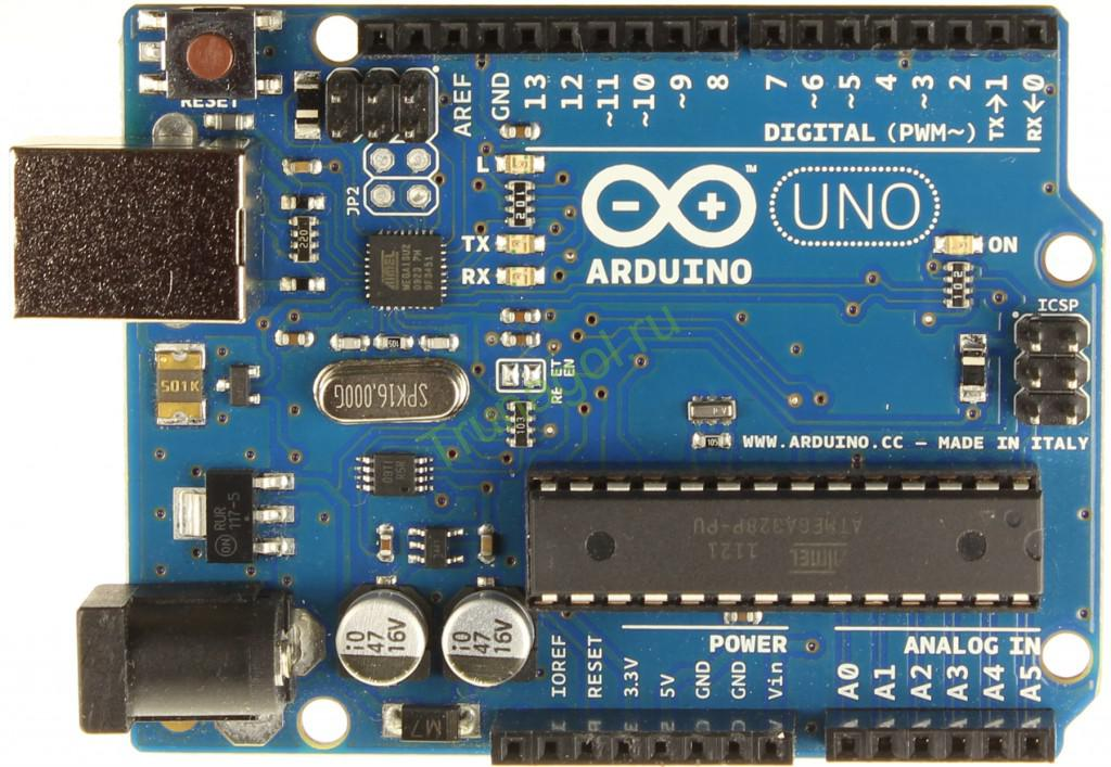 Внешний вид Arduino UNO