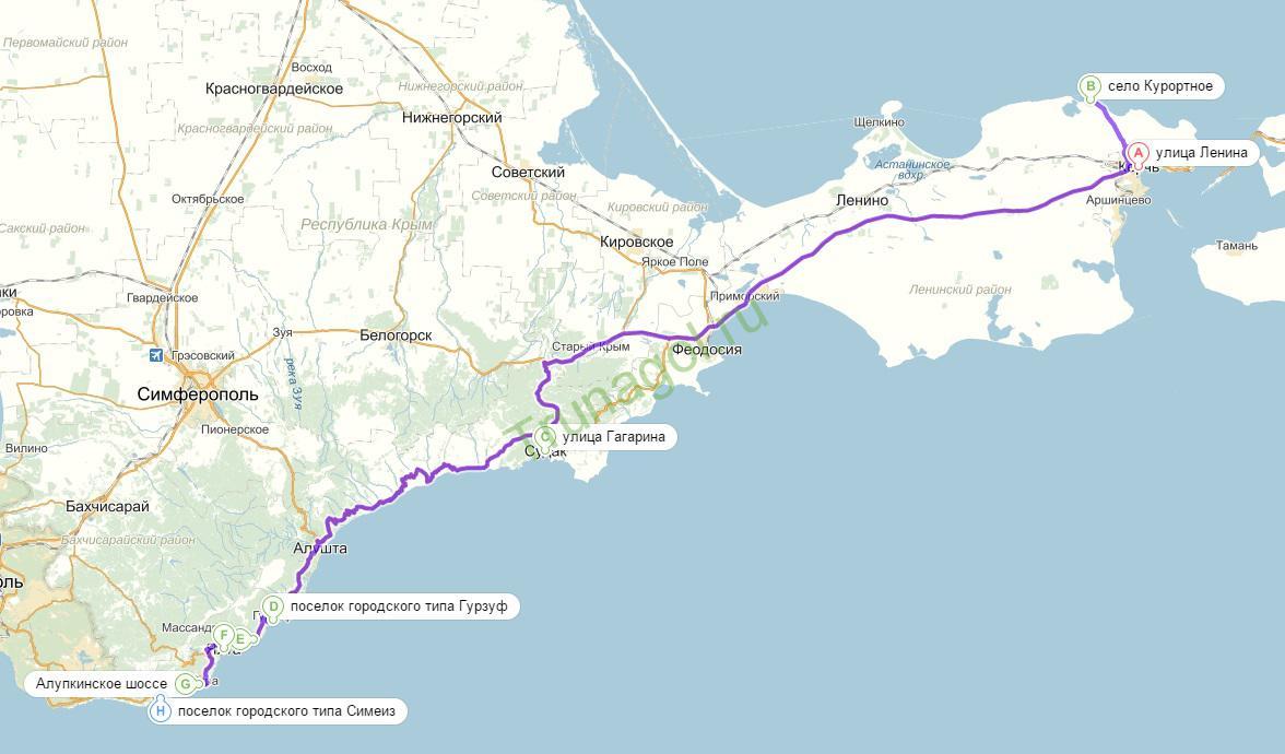 Как поехать в Крым на машине в 2 15 году - Blamper ru